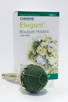 Портбукетница OASIS® ELEGANT® Bouquet Holder Metallic Leaf