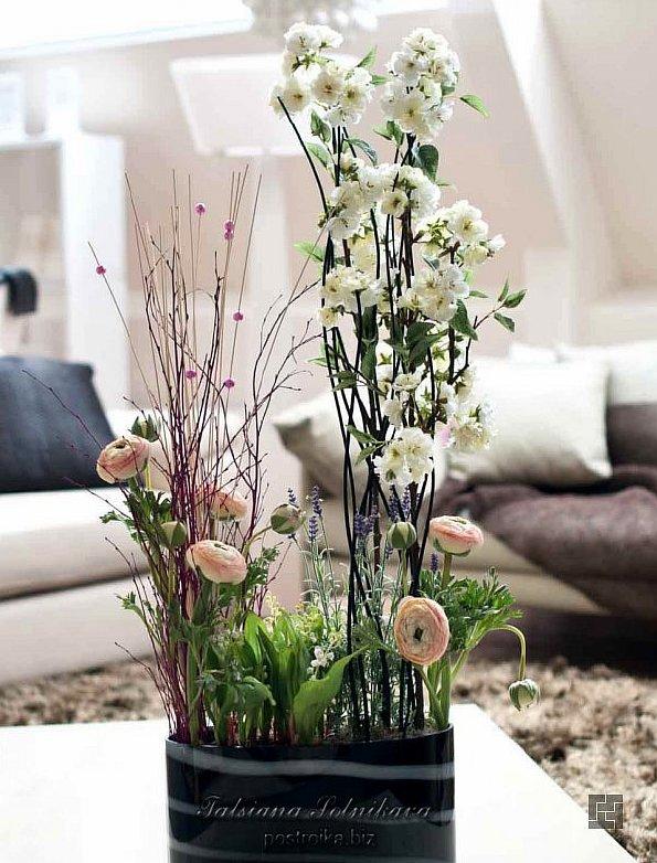 Цветы искусственные для интерьера купить